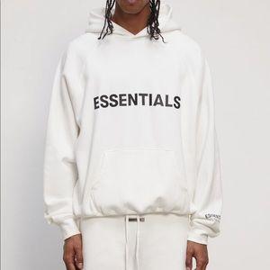 Fear of God FOG Essentials White Hoodie sz XL NWT